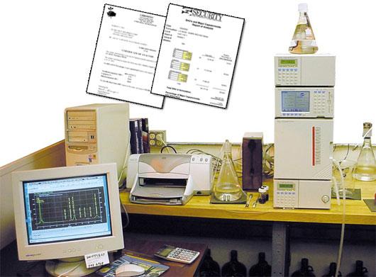 保安器材公司的高效液相色谱实验室